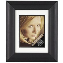"Matted Ornate Scoop Frame, 11"" x 14"" Black"
